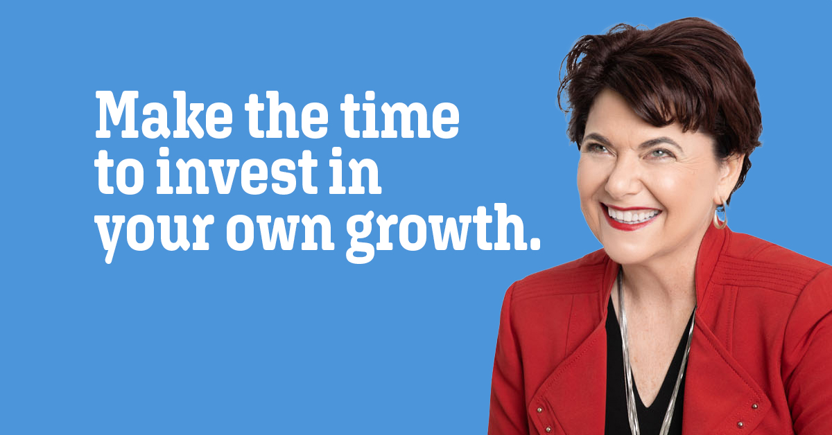 Quote: Make the time to invest in your own growth.